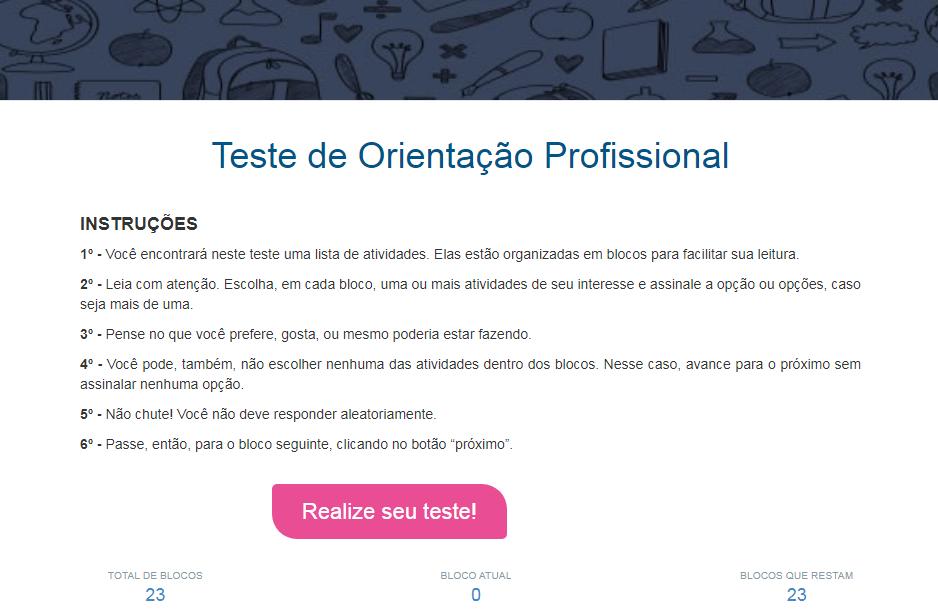 Teste vocacional online unicesumar.PNG