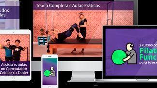 Videoaulas de pilates e fisioterapia com idosos